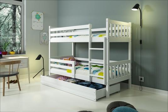 Narivoodi komplekt Carino 2 80x190 valge/valge, Narid, Narid laiusega 80cm, Lastemööbel ja sisustus