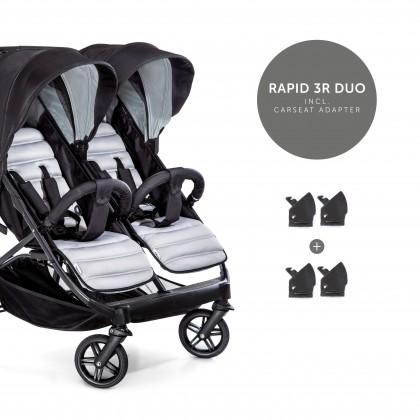 Hauck jalutuskäru Rapid 3R Duo, Silver/Charcoal, Lastevankrid ja kärud, Kaksikutele