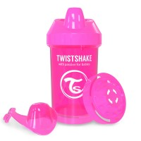 TWISTSHAKE CRAWLER CUP 300ML, ROOSA, UUED TOOTED, Beebi- ja lastetarbed, Twistshake, Twistshake Crawler 300ml (8+m)