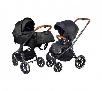 Muuvo Quick 2.0 jalutuskäru 2in1, Onyx Black