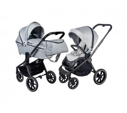 Muuvo Quick 2.0 jalutuskäru 2in1, Rocky Grey