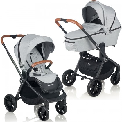 Muuvo Quick jalutuskäru 2 in 1, Rocky Grey